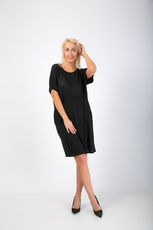 0ff793626219 Oversize letné šaty- čierné